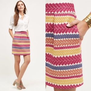 Anthropologie Nomad Jacquard Mini Pencil Skirt